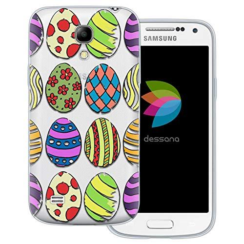 dessana - Cover trasparente per Samsung Galaxy S4 Mini, motivo: coniglietto pasquale