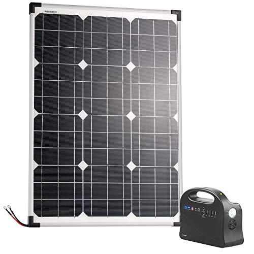reVolt Mobiles Solarpanel: Solar-Strom-Set mit Generator-Powerbank & 50-Watt-Solarpanel, 26,4 Ah (2in1 Solar Generatoren Powerbanks)