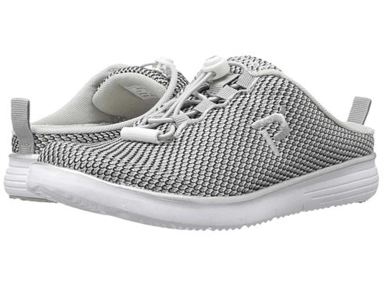 市の中心部先史時代の地殻(プロペット)Propet レディースウォーキングシューズ?カジュアルスニーカー?靴 TravelFit Slide Silver/Black 7.5 24.5cm N (AA) [並行輸入品]
