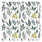 Vinilo Adhesivo para Muebles y Pared, 45 x 200 cm, Floral, Color Verde, Fondo Blanco, VNL-023