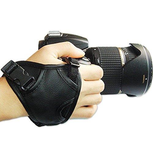 First2savvv OSH0301 cuero nuevo triángulo cámara digital SLR correa de mano para...