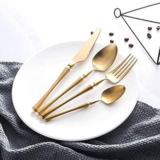 Stainless Steel Cutlery Set Gold Dinnerware Set Western Food Cutlery Tableware Dinnerware Christmas Gift forks knives spoons - red dinnerware s