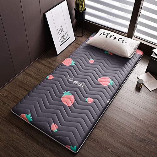 MPBYOU Foldable Thick Sleeping Floor Futon Mattress,Ergonomics Breathable Tatami Mattress Topper Pad Japanese Bed Roll for Student Dorm Student