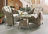 Destiny Sitzgruppe Lounge Key West Sessel Tisch Balkonset Gartenmöbelset Gruppe