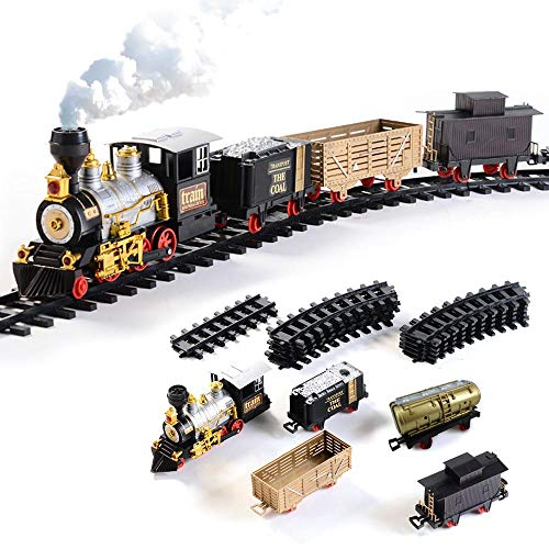 Fodow Electronic Classic Railway Train Sets With Steam...