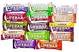 LIFEFOOD Lifebar + Lifebar Plus Set 14x 47g - alle 14 Sorten - Rohkost-Superfood-Riegel (bio, roh, vegan) 14er
