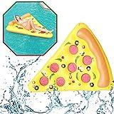SLCE Colchonetas Piscina Hinchable Rebanada De Pizza, Flotador Inflable Hamaca De Agua Flotante para Piscina, PVC Gigante Piscina Inflable Balsa Flotante Piscina, 180X135cm