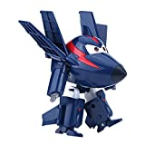 Dilwe Mini Robot Super Wings Transformable Juguete Animado Figura de Acción para Niños Regalo(#1)