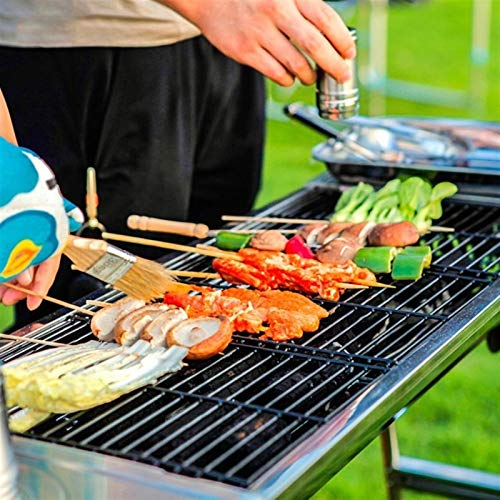 51fynvpW99L. SL500  - MUBAY Holzkohlegrill BBQ für Picknick im Freien Einfache Holzkohlegrill Perfekte Faltbare Premium-BBQ-Grill-Edelstahl-Verdickung tragbarer Faltbarer Grill