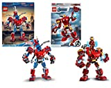 Legoo Lego Marvel 76146 Spider-Man Mech + Avengers 76140 Iron Man Mech, a partir de 6 años