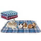 2 fodere per gabbie in pile per animali domestici, lavabili per animali domestici, impermeabili, riutilizzabili, per cani e gatti, antiscivolo, con assorbimento rapido