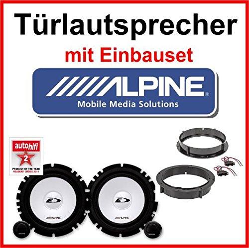 Alpine Lautsprecher mit Einbauset für Opel Corsa B/C