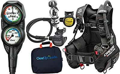Cressi Start Pro 2.0 Scuba Diving Gear Package Assembled GUpG Reg Bag, Mini Console PD2 XL