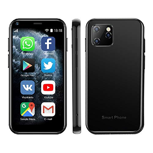 SOYES XS11 Mini Smartphone Android 6.0 3G 3D Cristal Ultra Delgado Cuerpo Cámara Palm HD Dual Sim Quad-Core (Negro)