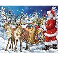 DIY 5Dダイヤモンド絵画キット、クリスマスキャンバス壁の装飾のためのサンタクロースラインストーン刺繍クロスステッチ芸術品、工芸品 A-Square diamond