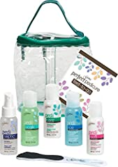 COMPLETE PERFECT PEDICURE, FEET-TO-GO KIT: Gena Feet To Go Kit has everything you need for amazing at-home or on-the-go pedicures! This kit includes Pedi Septic foot spray, Pedi Soak foot bath, Pedi Soft foot and leg lotion, Pedi Care sloughing lotio...