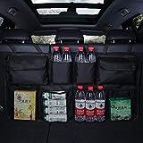 TGFOF Kofferraum-Organizer, Rücksitz-Aufbewahrungstasche mit 8 Taschen, 3 verstellbaren Gurten und...