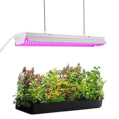 Byingo 2ft 32W Plant Grow Light - LED Integrated Lamp Fixture Plug and Play - Full Spectrum for Indoor Plants Flowers Growing