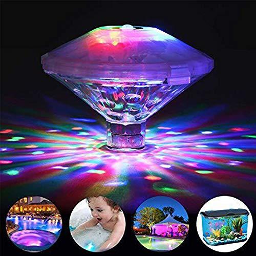 nakw88 Unterwasser-Disco-Licht, schwimmende Badewannen-Lichter, Unterwasser-LED-Lichter für Badewanne, Spa