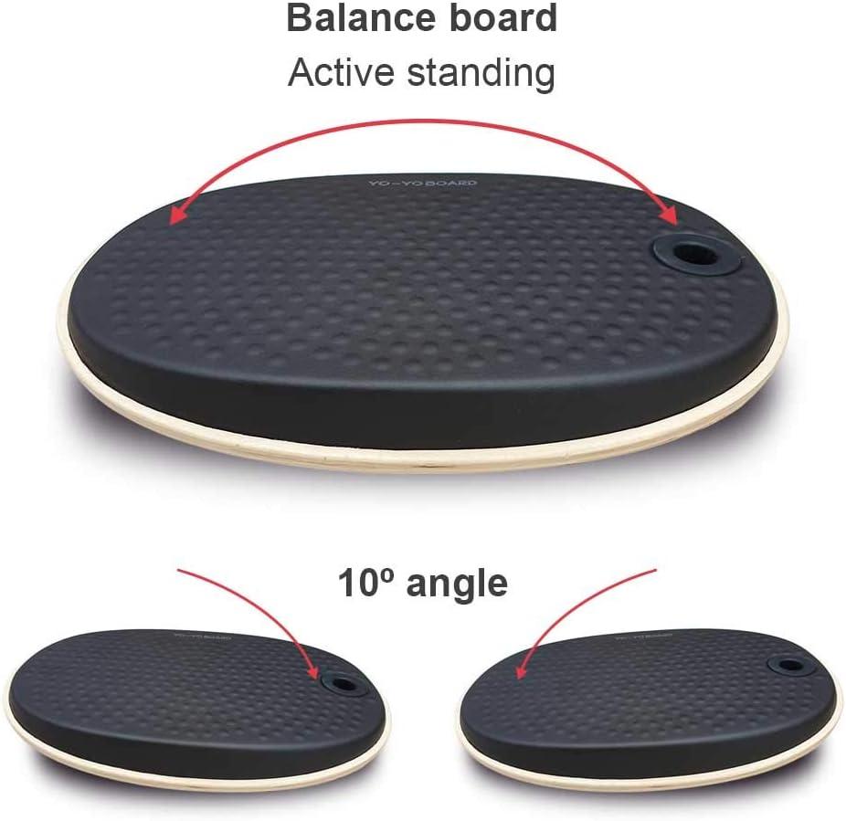 Yo-Yo MAT ACTIVE 74cm x 70 x 8cm Comfortable Standing Mat The Non-Flat Standing Desk Anti-Fatigue Mat with Calculated Contours BLACK Desk Accessories Office Mat Standing Desk Mat