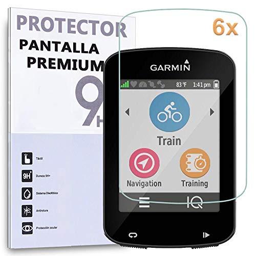 REY 6X Protector de Pantalla para Garmin Edge 820 - Edge 520 - Edge 520 Plus, proteccción para Rayaduras, Roturas y Humedad