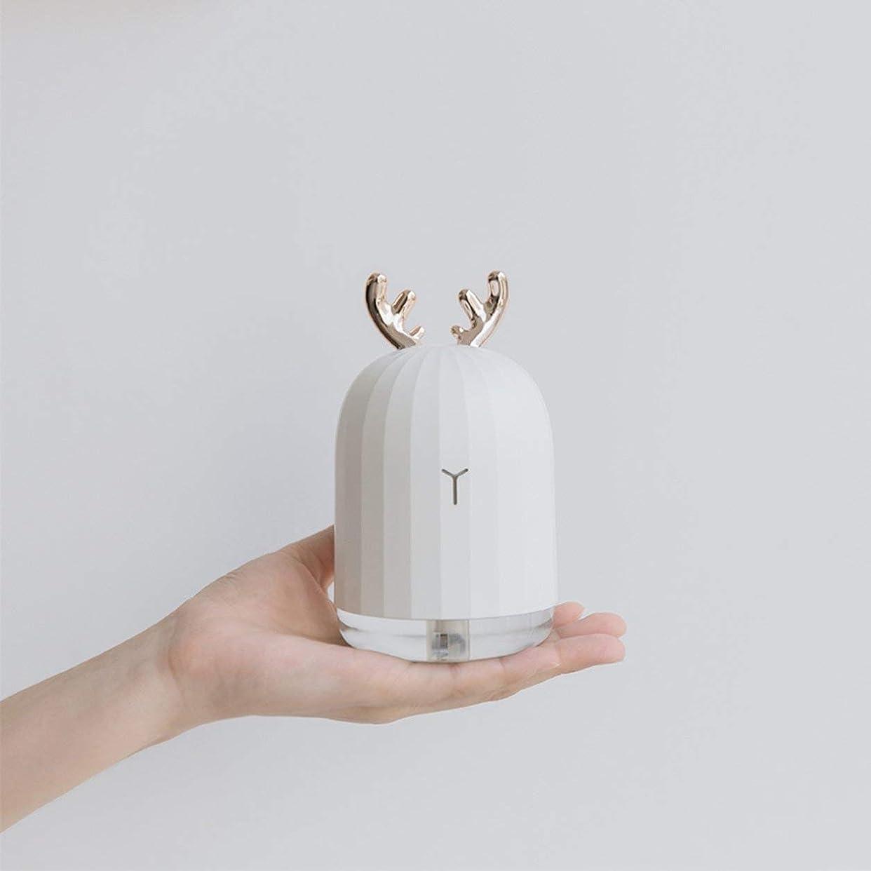 器官祝福する道Saikogoods LEDナイトライトとラベンダーの空気超音波加湿エッセンシャルオイルディフューザーアトマイザーエアフレッシュナーミストメーカー 鹿