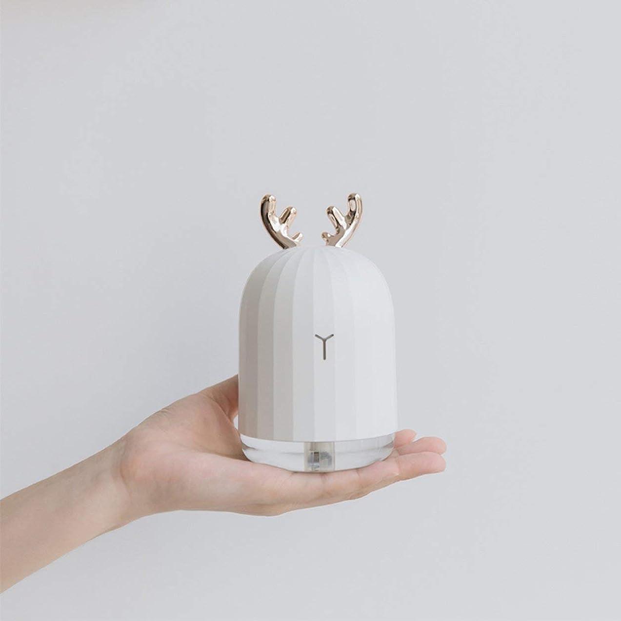 説得力のある白鳥キルスSaikogoods LEDナイトライトとラベンダーの空気超音波加湿エッセンシャルオイルディフューザーアトマイザーエアフレッシュナーミストメーカー 鹿