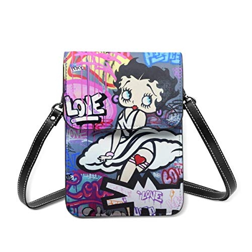 XCNGG Be-Tty Bo-Op Leather Cell Phone Purse Crossbody Bags Small Shoulder Bag Travel Wallet Handbag With Adjustable Strap