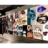 Shuangklei Sexy Beauty Shop Fondo De Pantalla Maquillaje Tienda Decoración Mural Personalizado 3D Nail Shop Decoración Fondo De Pantalla-400x280cm