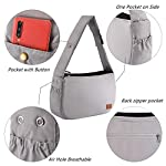 PETTOM Dog Sling Carrier Grey Small Dog Puppy Sling Pet Rabbit Cat Hands Free Adjustable Shoulder Carry Handbag with Mat Pad for Outdoor Travel 11