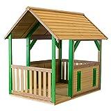 Beauty.Scouts Holzspielhaus mit Veranda Tyr 172x118x178cm aus Zedernholz in braun Unterstand Kinder Spielhaus Kinderspielhaus Gartenhaus Holzhaus offene Bauweise