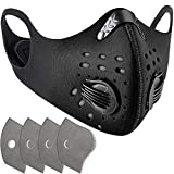Dust Mask - Anti Pollution Breathable Respirator Mask (4 N99 Filter Replacement + 2 Valves) Carbon Activated...