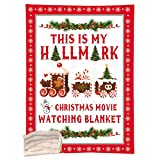 Ochine This is My Hallmark Christmas Movie Watching Blanket Double-Sided Super Soft Cozy Warm Plush 3D Printed Blanket Christmas Movie Watching Blanket Quilt