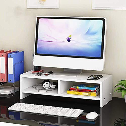 DAGCOT Ordenador portátil de mesa de madera de la pantalla del monitor del soporte del monitor Riser Riser Soporte de pantalla de escritorio del montaje de la pantalla mejora de escritorio Organizador
