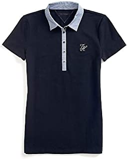 Tommy Hilfiger Blue Cotton Shirt Neck Polo For Women