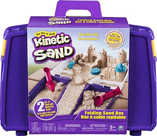 Kinetic Sand Sandspiel Koffer mit 907 Kinetic Sand für Indoor-Sandspaß