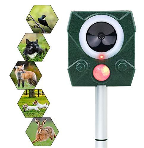 HBRE Repelente UltrasóNico Animales Carga Solar Y USB,con Sensor De Movimiento De Sonido Ahuyentador De Gatos,Waterproof Pest Repeller,para Gatos,Perros,Ratones