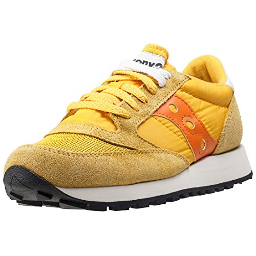 Saucony Jazz Original Vintage 9 UK - Zapatillas para mujer, color amarillo y naranja