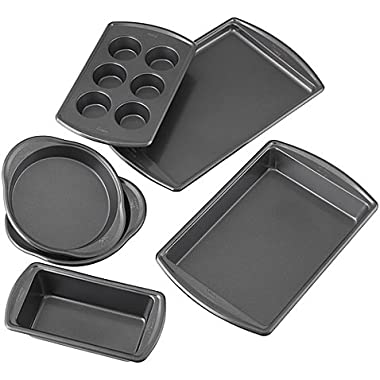 Wilton Advance - Select Nonstick 6-Piece Bakeware Set in Gunmetal (6-Piece Premium Nonstick)