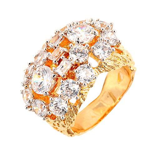 The Elvis Jewellery Collection Herren Statement-Ringe Vergoldet - 803R2927TB-84/V