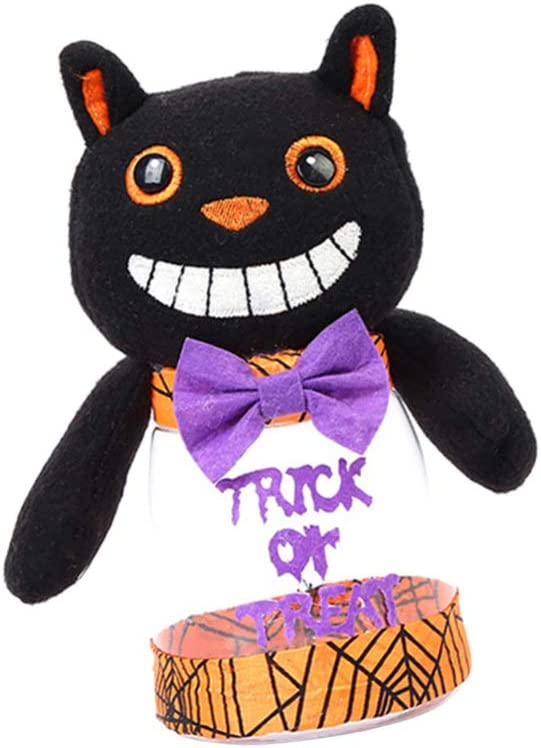 ABOOFAN Halloween Outlet ☆ Free Shipping Candy Jar Black Cat Ja Portland Mall Decoration Cookie Party