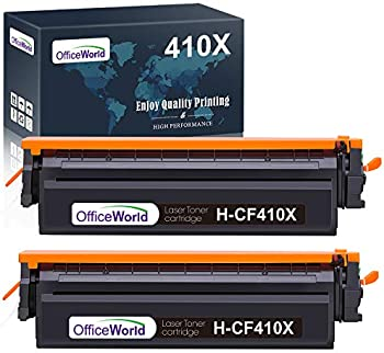 2-Pack OfficeWorld HP 410X 410A Compatible High Yield Toner Cartridges