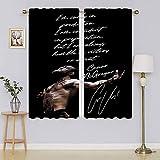 Team Awesome Sports Legends Conor Mcgregor - Cortina térmica para puerta, cortinas opacas y cortinas que mantienen calientes las cortinas para el dormitorio de 199 x 1178 cm