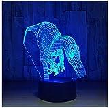 Luz de noche LED para niños Dientes de tiburón Dragón Luces 3D Lámparas inteligentes para el hogar Luces LED de noche LED Habitación para niños Lámparas de luces LED para niños
