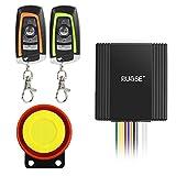 Rupse Motorrad Alarmanlage mit Motorstart 2 Funkfernbedienung für alle Roller Moped oder Quad mit 12 Volt