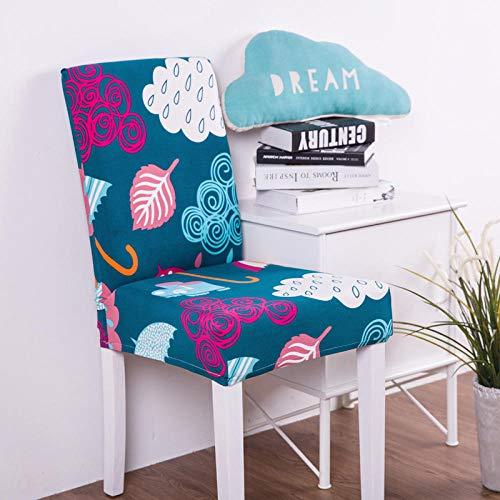 Fundas para sillas Hojas Rosadas Spandex Fundas sillas Comedor Lavable Extraíble Funda Muy fácil de Limpiar Duradera Modern Bouquet de la Boda Hotel Decor Restaurante 4/Piezas