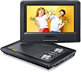 APEMAN 12'' Portable DVD Player with 9.5'' HD Swivel Screen, 6.5-8 Hrs Rechargeable Battery, Support SD Card/USB/Earphone/Speaker, Region Free for Kids Elder, Home/Hospital/Long Road Trips/Camping