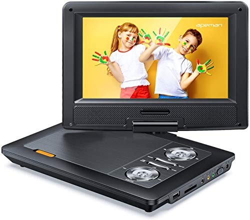 APEMAN 12'' Portable DVD Player with 9.5'' HD Swivel Screen