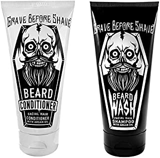 Sponsored Ad - GRAVE BEFORE SHAVE Beard Wash & Beard Conditioner Pack