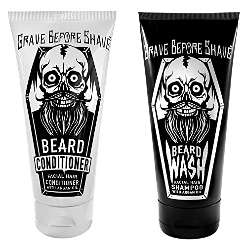 GRAVE BEFORE SHAVE Beard Wash & Beard Conditioner Pack